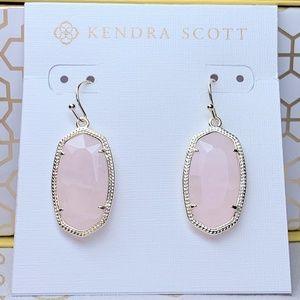 New Kendra Scott Gold Rose Quartz Dani Earrings